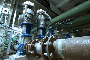 gas pipeline processing unit within a facility