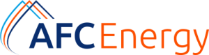 AFC energy logo with is navy blue and bright orange