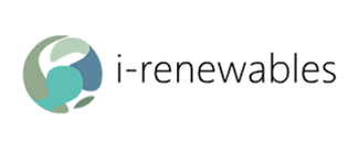 i-renewables logo which is a mixture of light green, and dark greens
