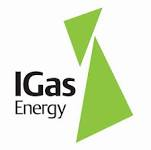 IGas energy logo with green triangles