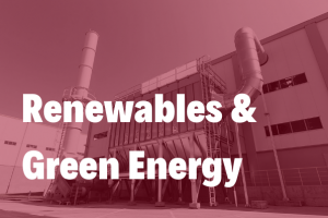 renewables and green energy in a bold white text over an energy from waste development
