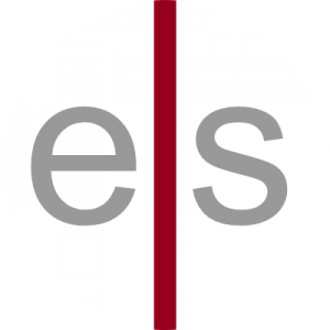 engsolve logo with a grey letter e and letter s with a red stripe going down the middle